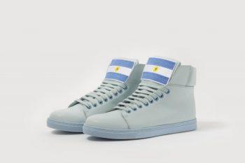Sky blue sneakers