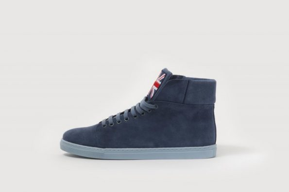 Dark blue sneakers