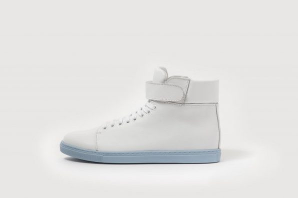 White cowhide leather Sneakers